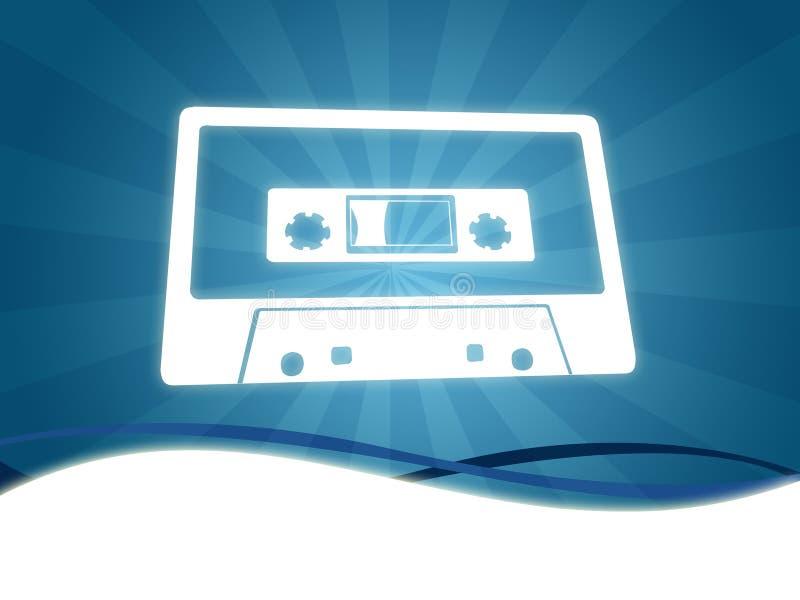 Fundo da cassete áudio ilustração do vetor