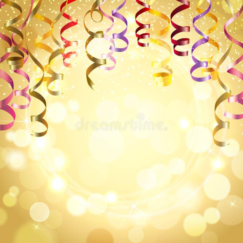 Fundo da celebração com flâmulas ilustração stock