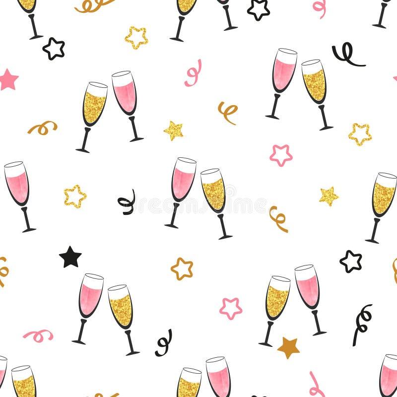 Fundo da celebração com vidros do champanhe ilustração stock