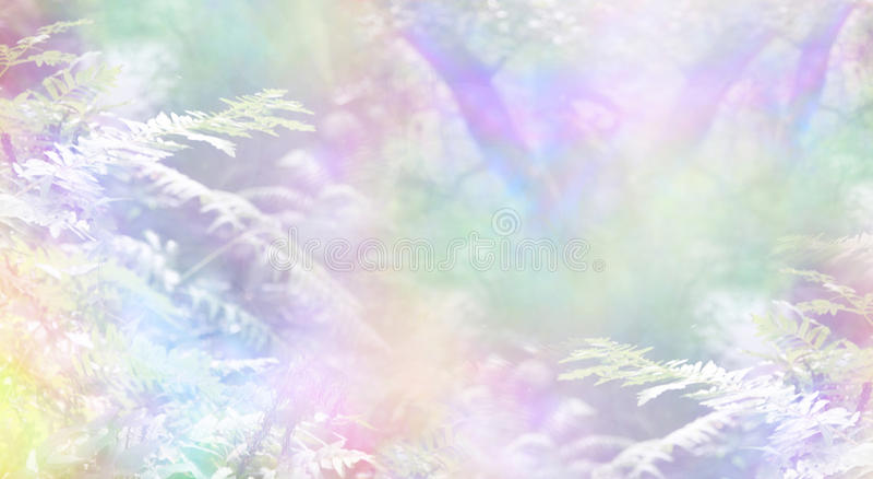 Fundo da cena da floresta do arco-íris imagens de stock royalty free