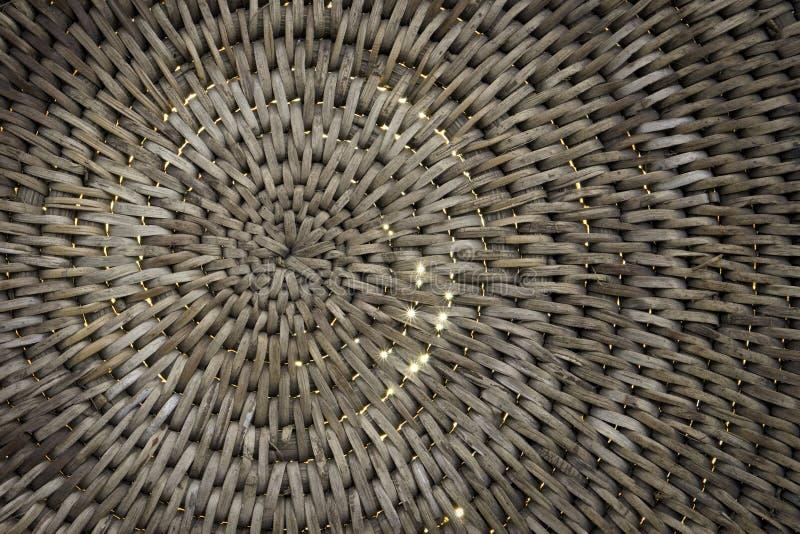 Fundo da cesta de Weave com a luz que shinning completamente ilustração stock