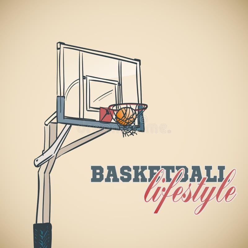 Fundo da cesta do basquetebol ilustração do vetor