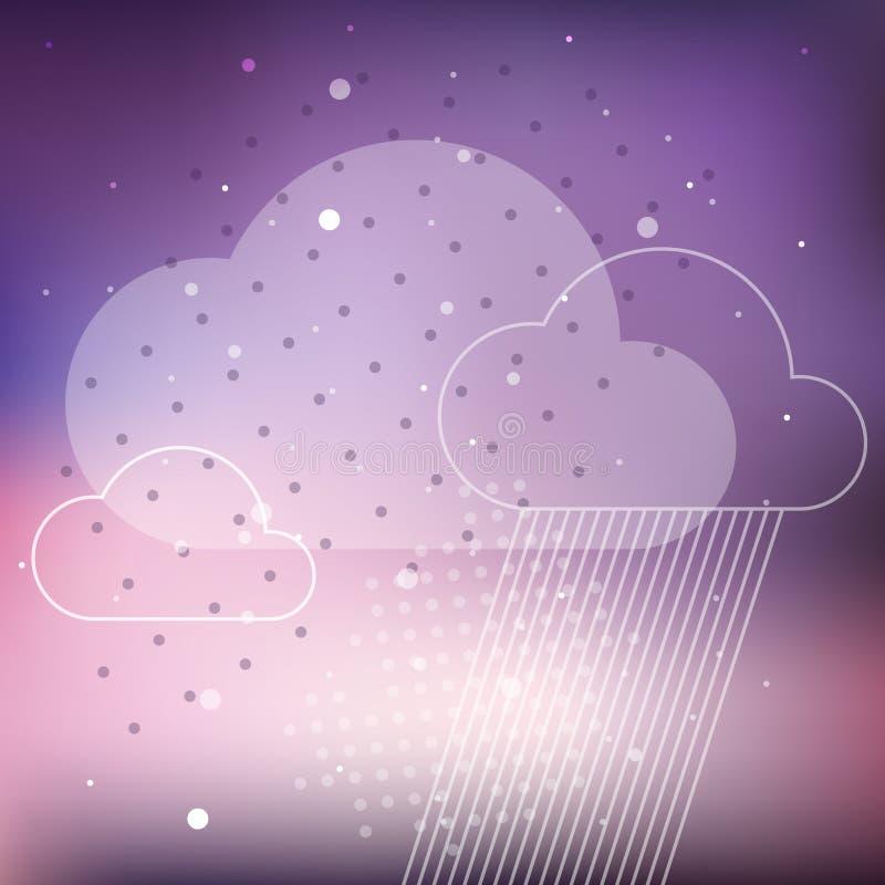 Fundo da chuva da nuvem ilustração stock