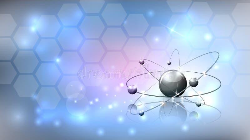 Fundo da ciência abstrata com molécula ilustração do vetor