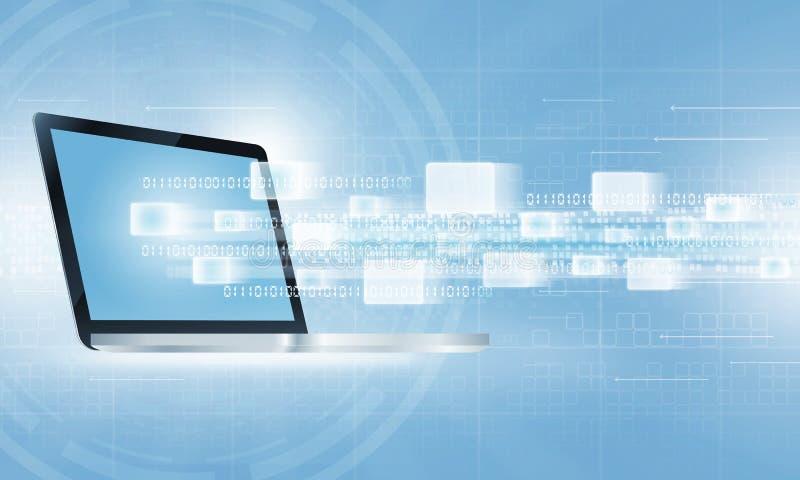 Fundo da conexão a Internet de uma comunicação da tecnologia imagens de stock royalty free
