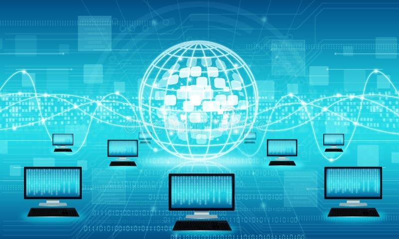 Fundo da conexão a Internet do negócio da tecnologia fotos de stock