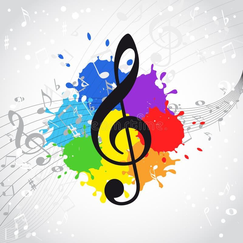 Fundo da cor da música ilustração stock