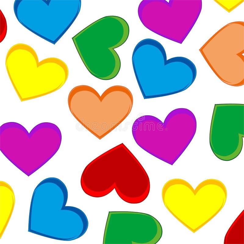 Fundo da cor do coração ilustração royalty free