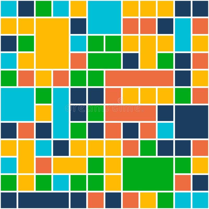 Fundo da cor dos quadrados Estilo liso do projeto do molde Vetor ilustração stock