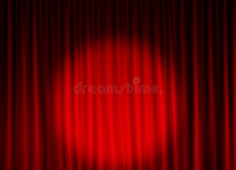 Fundo da cortina do teatro ilustração do vetor