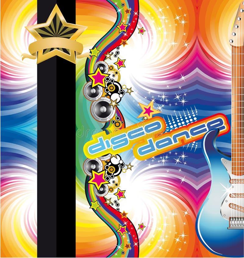 Fundo da dança do disco ilustração royalty free