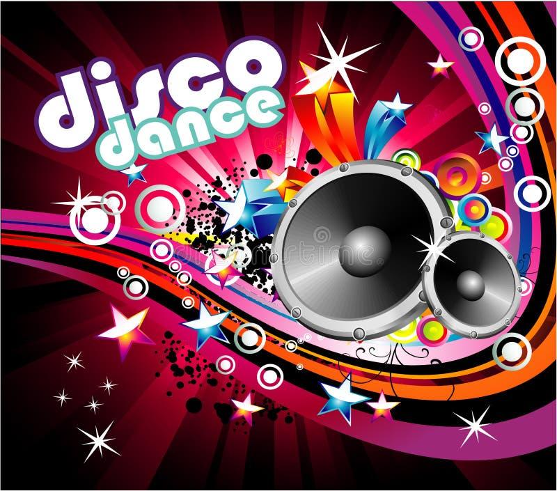 Fundo da dança do disco ilustração do vetor