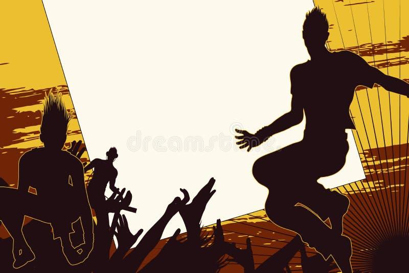 Fundo da dança dos povos ilustração stock