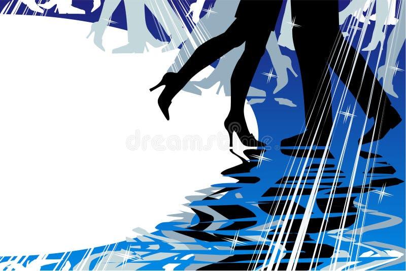 Fundo da dança ou da música ilustração do vetor