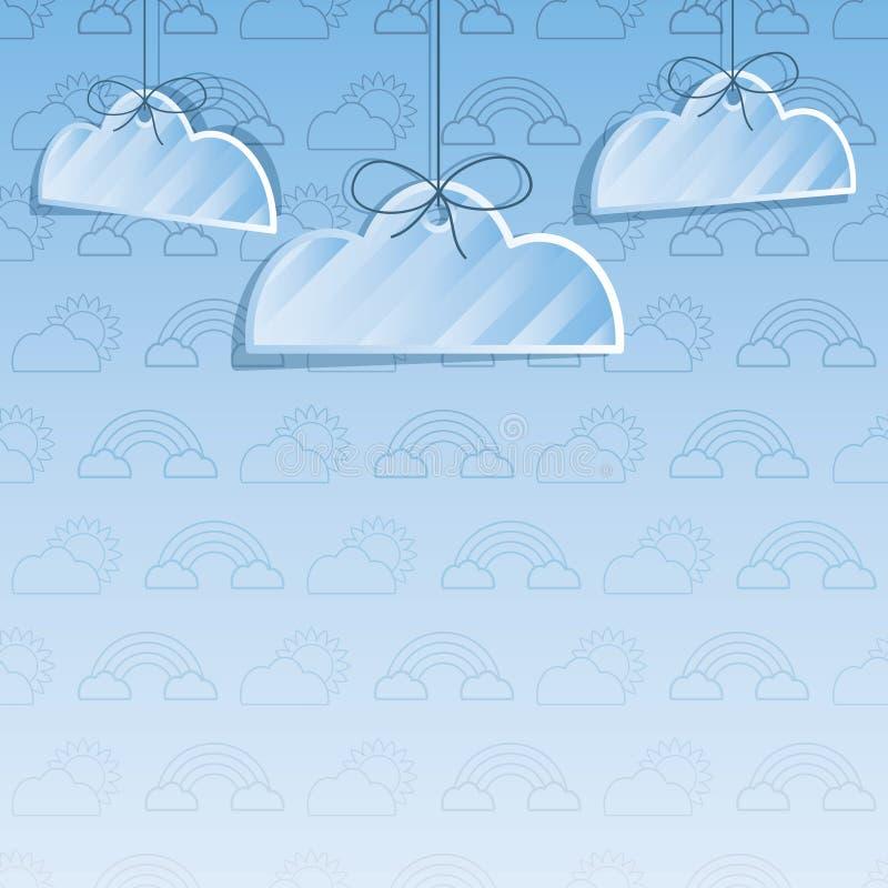 Fundo da decoração da nuvem ilustração royalty free