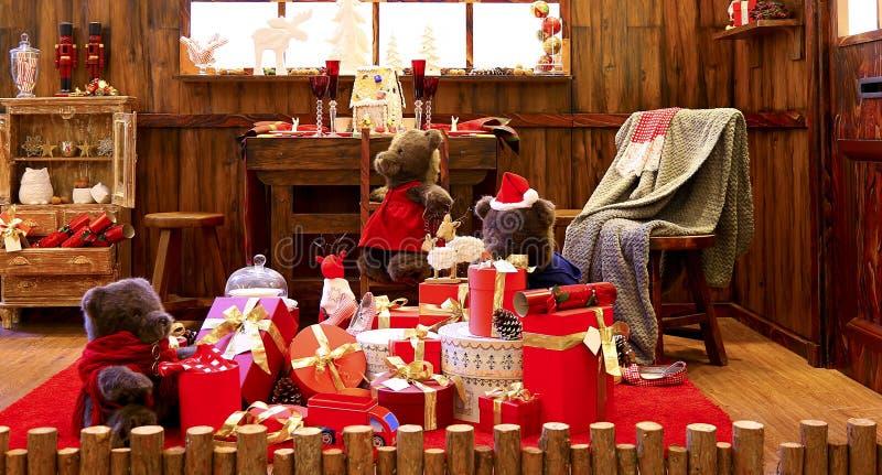 Fundo da decoração do Natal fotos de stock royalty free
