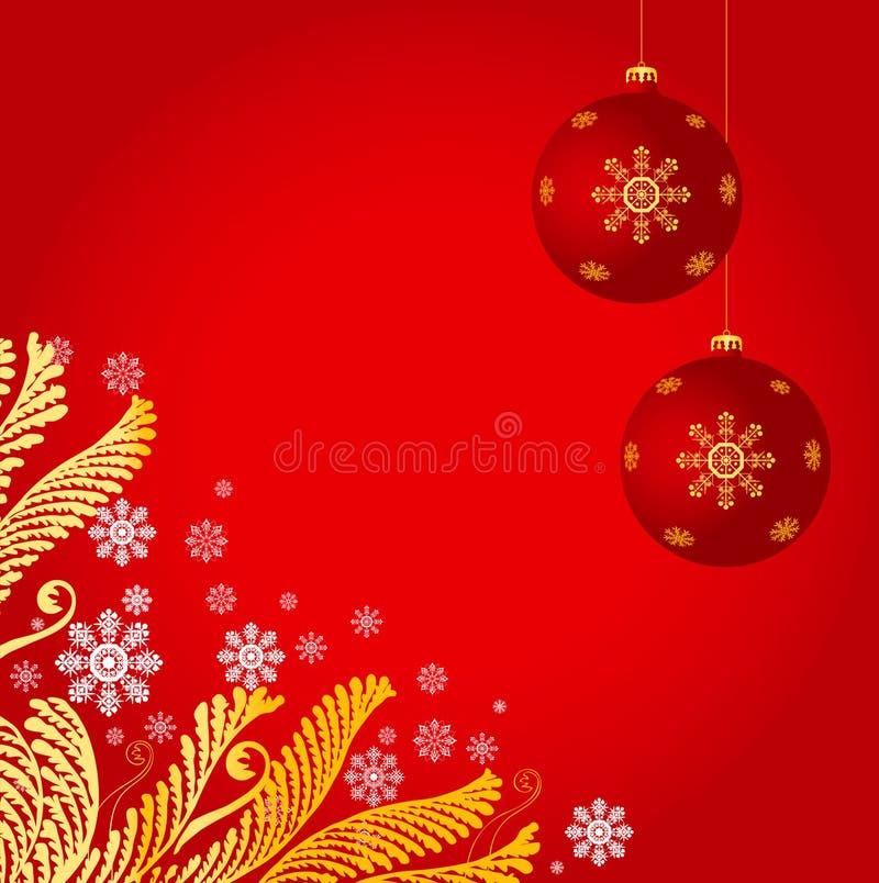 Fundo da decoração do Natal ilustração stock