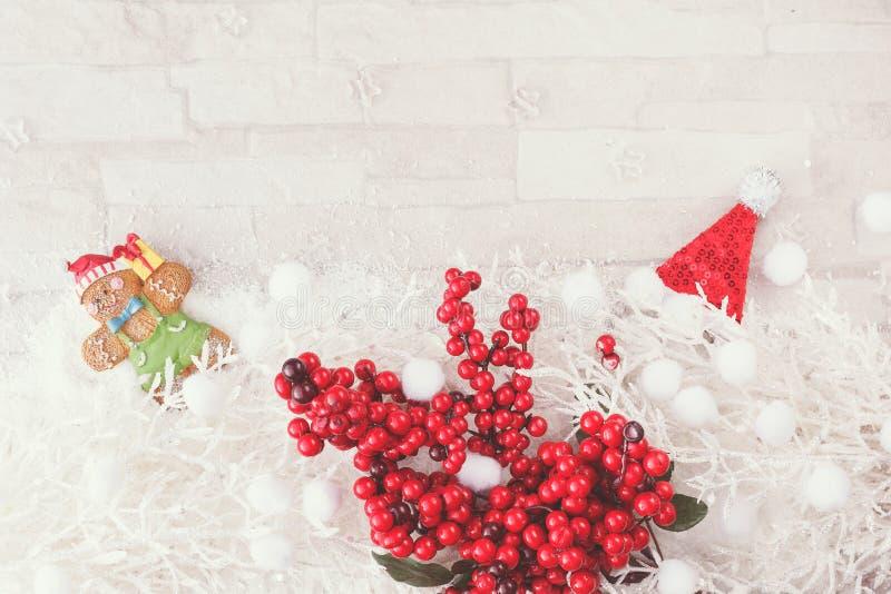 Fundo da decoração do Natal e do ano novo foto de stock