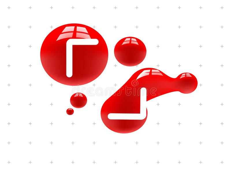Fundo da doação de sangue do dia do papel da gota do sangue ilustração royalty free