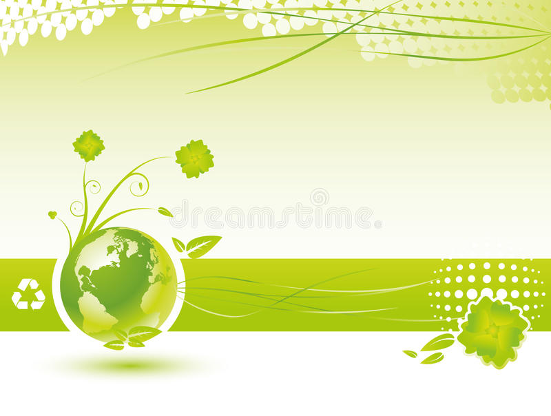 Fundo da ecologia ilustração royalty free