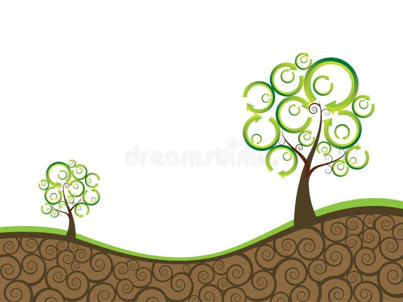 Fundo da ecologia ilustração stock