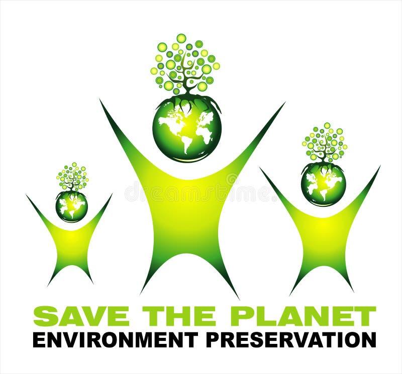 Fundo da economia do ambiente ilustração royalty free