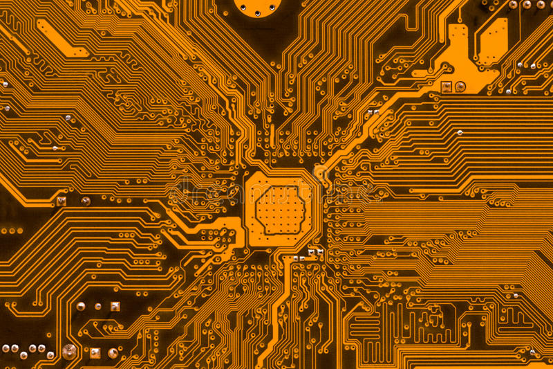 Fundo da eletrônica da placa de circuito foto de stock royalty free