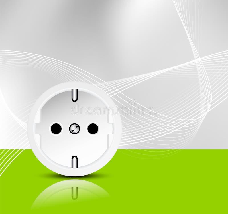 Fundo da energia - energias verdes ilustração royalty free
