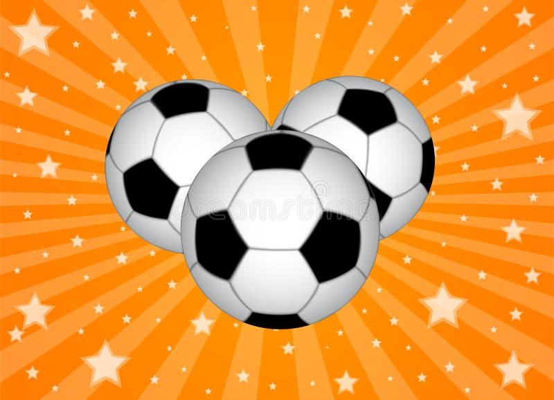 Fundo da esfera de futebol ilustração royalty free