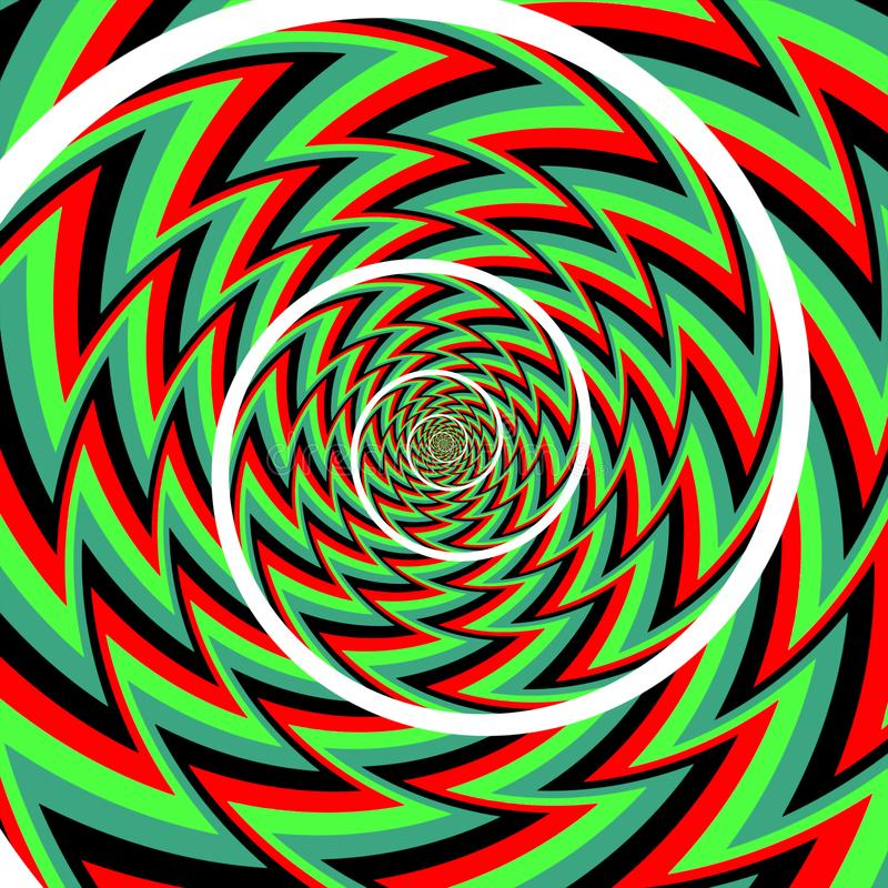 Fundo da espiral da ilus?o ?tica ilustração royalty free