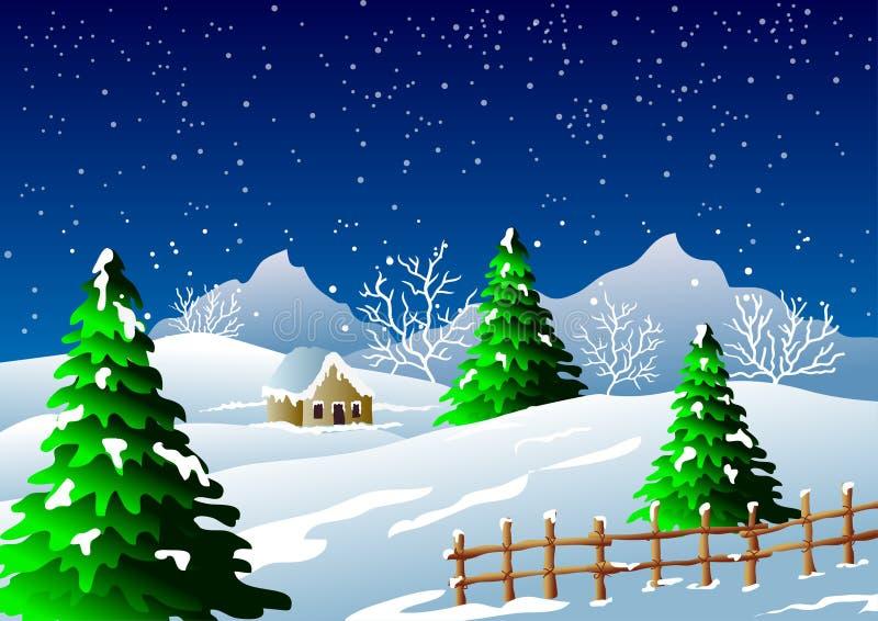 Fundo da estação do inverno ilustração royalty free