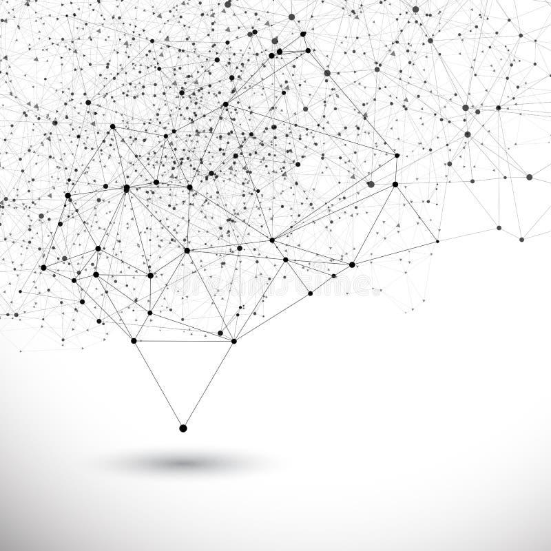 Fundo da estrutura da conexão do vetor ilustração stock