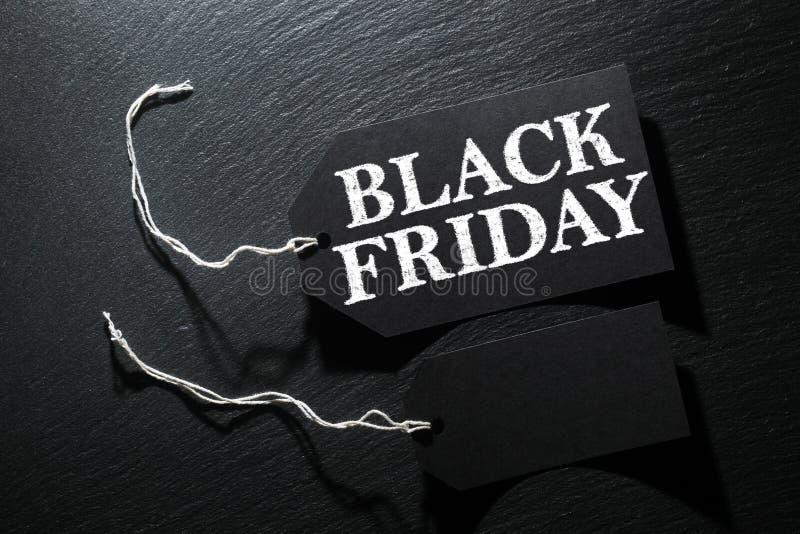 Fundo da etiqueta da venda de Black Friday fotografia de stock royalty free