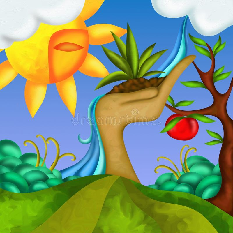 Árvore de Apple ilustração royalty free