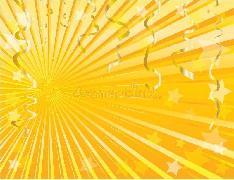 Fundo da flâmula do ouro ilustração royalty free