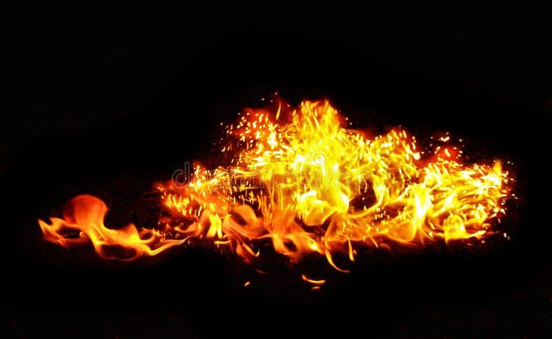Fundo da flama foto de stock