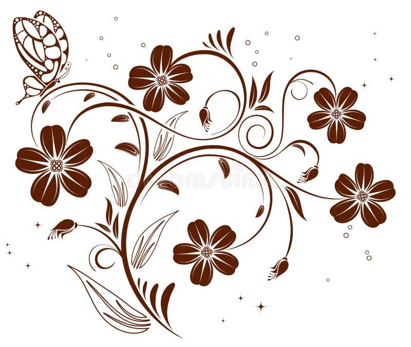 Fundo da flor ilustração do vetor