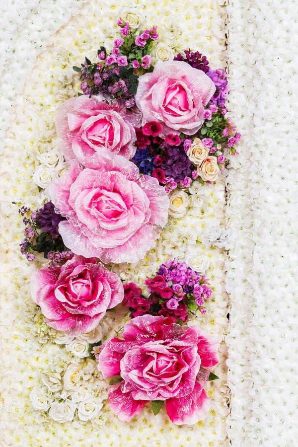 Fundo da flor artificial foto de stock
