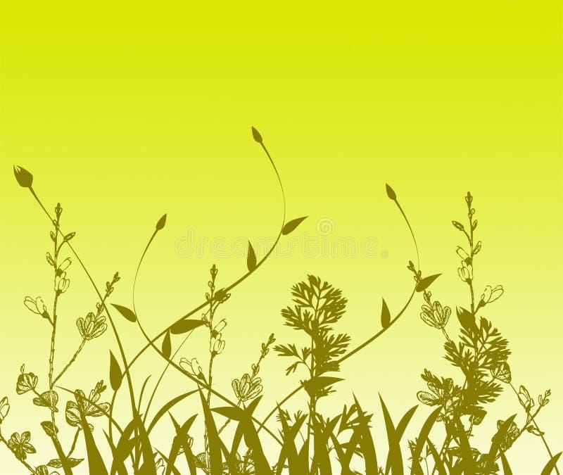 Fundo da flor da pintura de Grunge ilustração stock