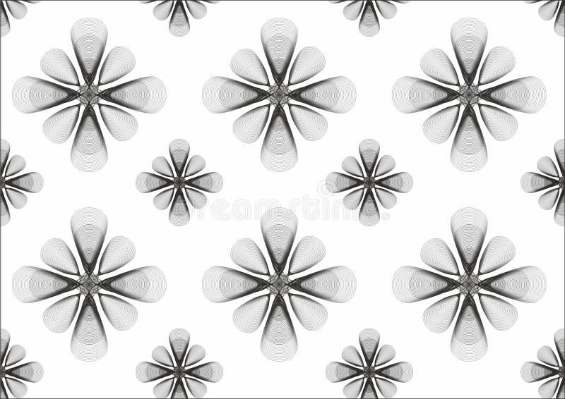 Fundo da flor de B&W foto de stock