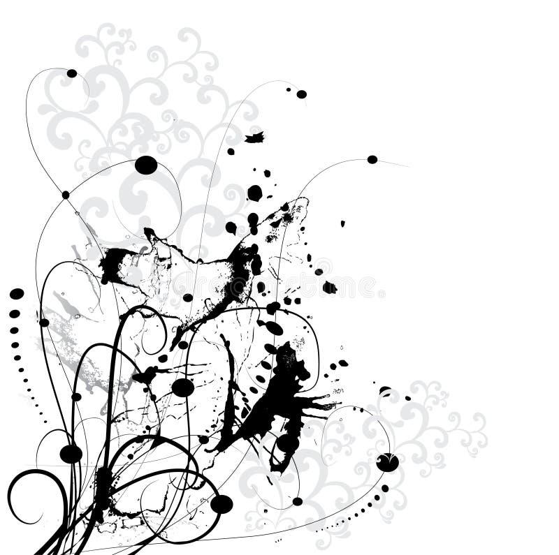 Fundo da flor de Grunge ilustração do vetor