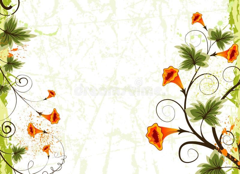 Fundo da flor de Grunge ilustração royalty free