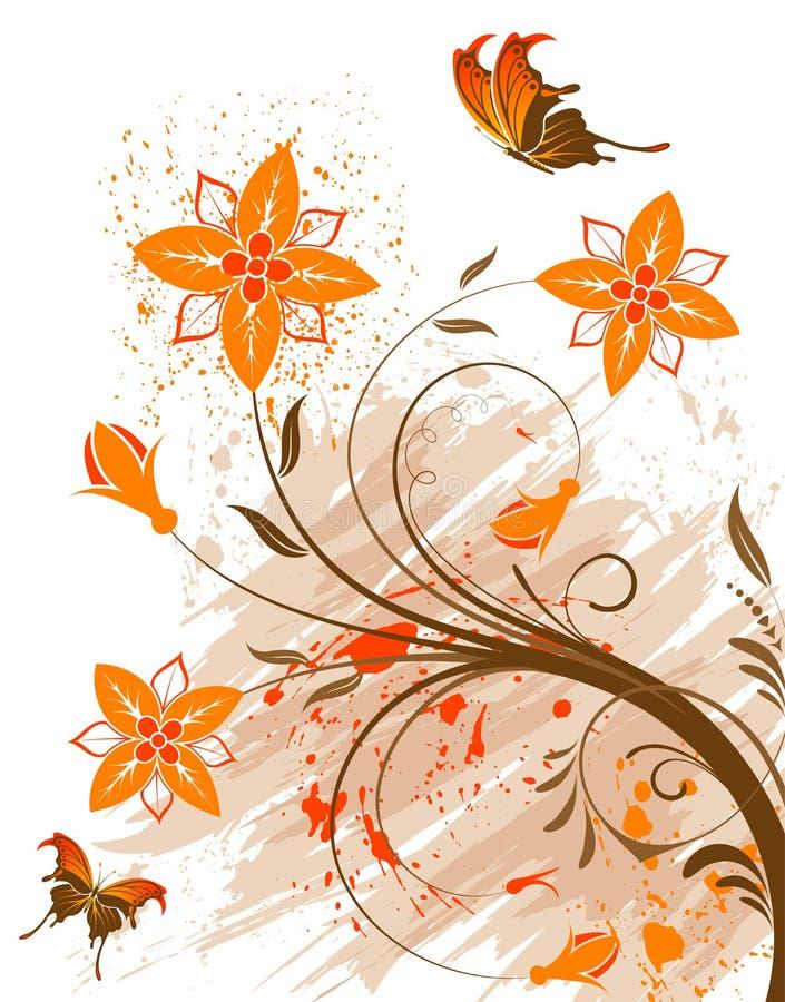 Fundo da flor de Grunge ilustração stock