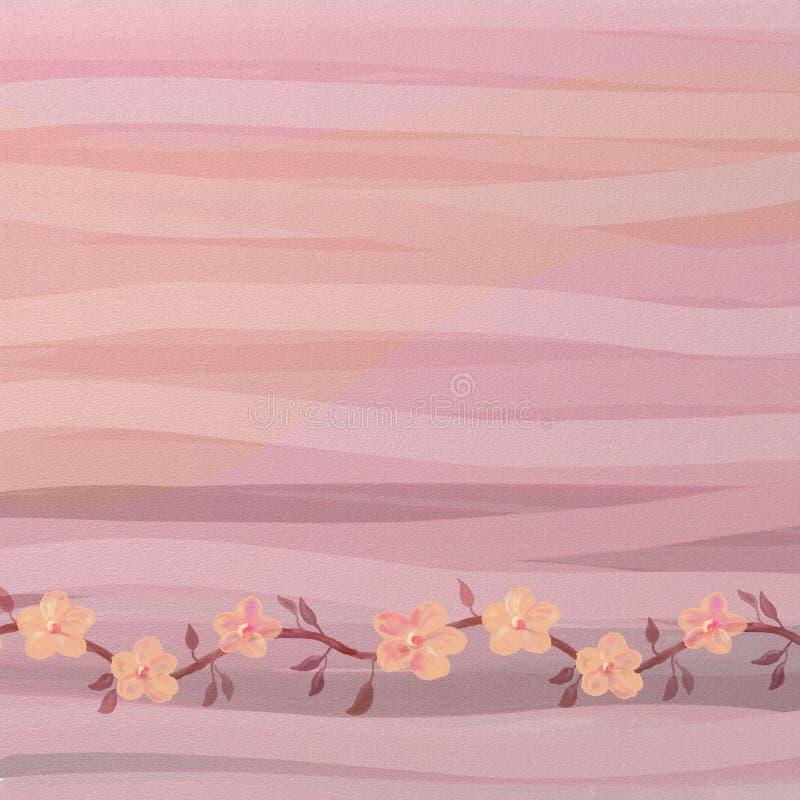 Fundo da flor do bebê ilustração do vetor