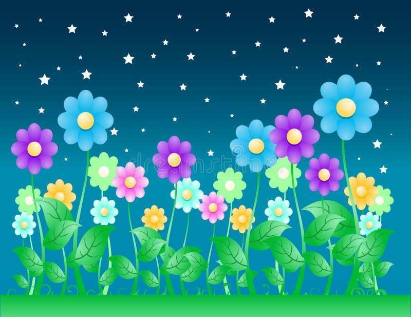Fundo da flor do Nighttime ilustração stock