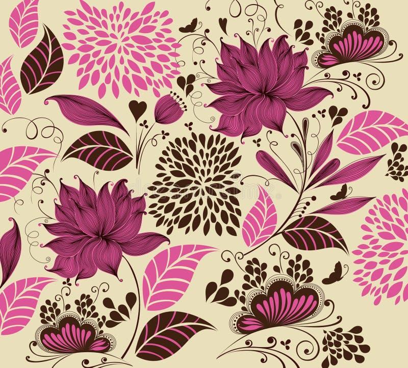 Fundo da flor do vintage ilustração do vetor