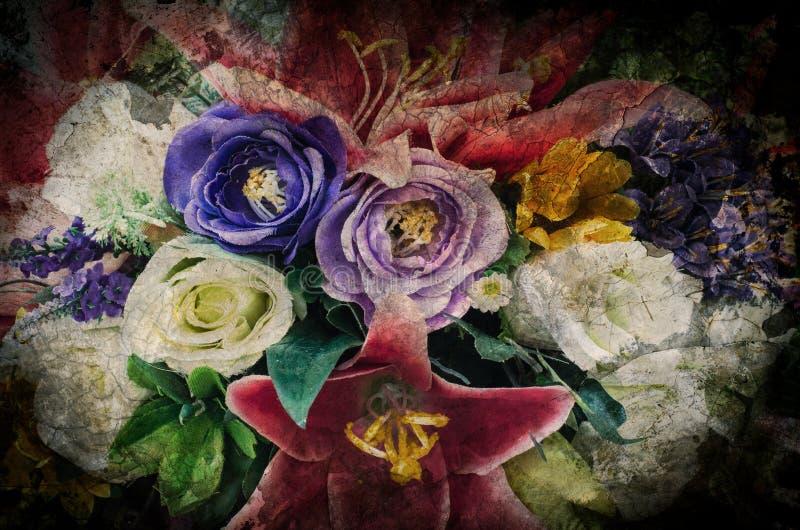 Fundo da flor do vintage do Grunge/backg romântico da flor do vintage ilustração stock