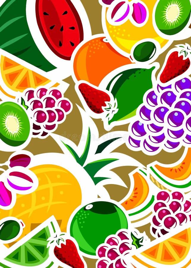 Fundo da fruta fresca ilustração do vetor
