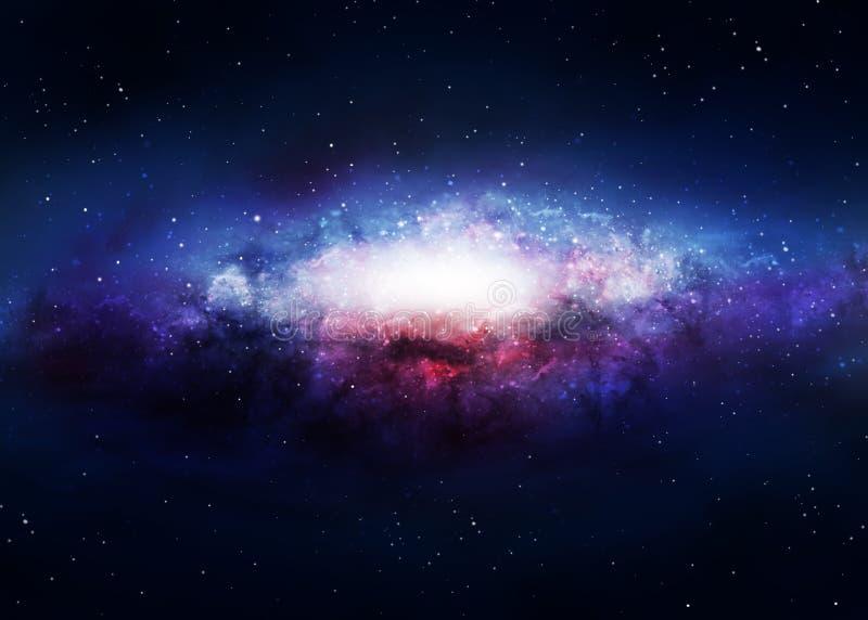 Fundo da galáxia ilustração royalty free