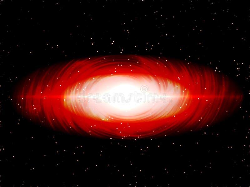 Fundo da galáxia do sumário da pintura de Digitas - Stargate espiral vermelho no universo do espaço profundo ilustração stock